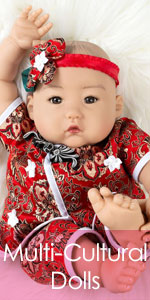 4-Piece Set 31032100 19 inch Sleeping Baby in GentleTouch Vinyl Paradise Galleries Reborn Baby Girl Newborn Doll Over The Moooon