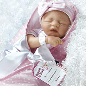 Amazon Com Paradise Galleries Reborn Baby Girl Doll In