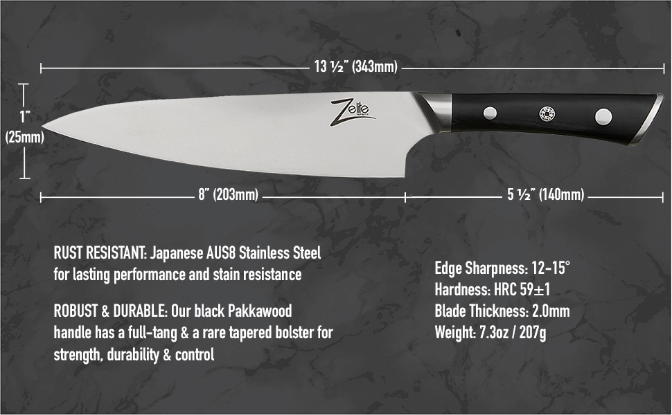 Amazon.com: zelite infinity, cuchillo de chef 8 inch > ...