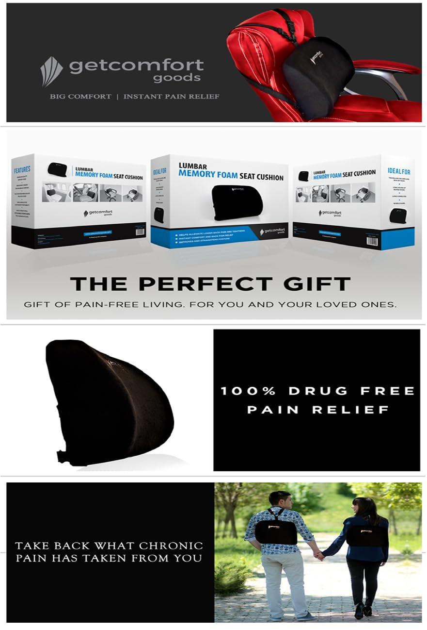 Amazon.com: GetComfort Goods Lumbar Support Pillow for Lower ...