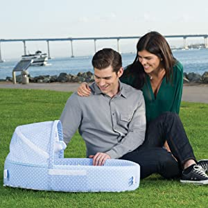 a3a34d118 Amazon.com   Lulyboo Baby Lounger to Go - Foldable Travel Bassinet ...