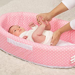 9fd243b33 Amazon.com   Lulyboo Travel Infant Bed - On The Go Baby Lounger ...