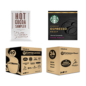 Compatible Light Roast, Decaf, Flavored, Variety Packs and Other Beverage K-Cup Pods