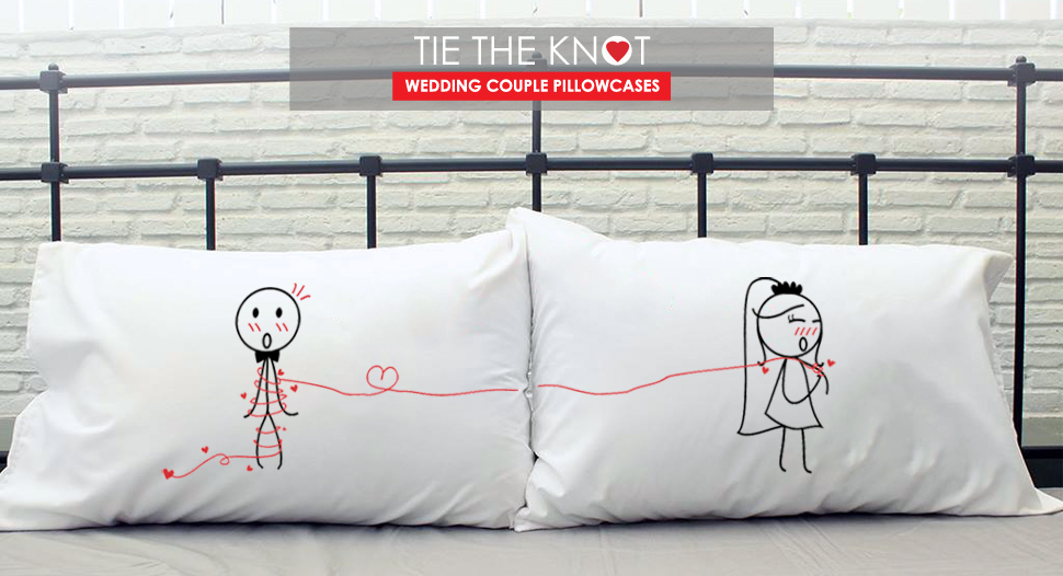 Amazon Boldloft Tie The Knot Couple Pillowcaseswedding Gifts