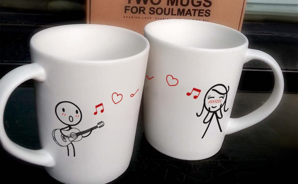 Boldloft Love Me Tender Couple Coffee Mugs Girlfriend Gifts Wife Gifts For Anniversary Valentines Day Birthday His And Hers Couples Gifts Wedding Anniversary Gifts For Her Guitar Lover Gifts Kitchen Dining