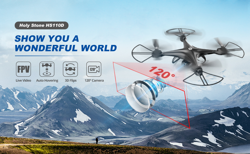 HS110D Drone with FPV camera