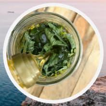 Violet Leaf Infused Olive Oil