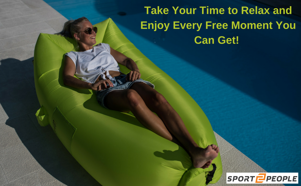 Get Yourself Relaxed After A Hard Working Day, Enjoy Your Free Time And Get  The Most Comfortable Experience By Lying On Our Air Bag!