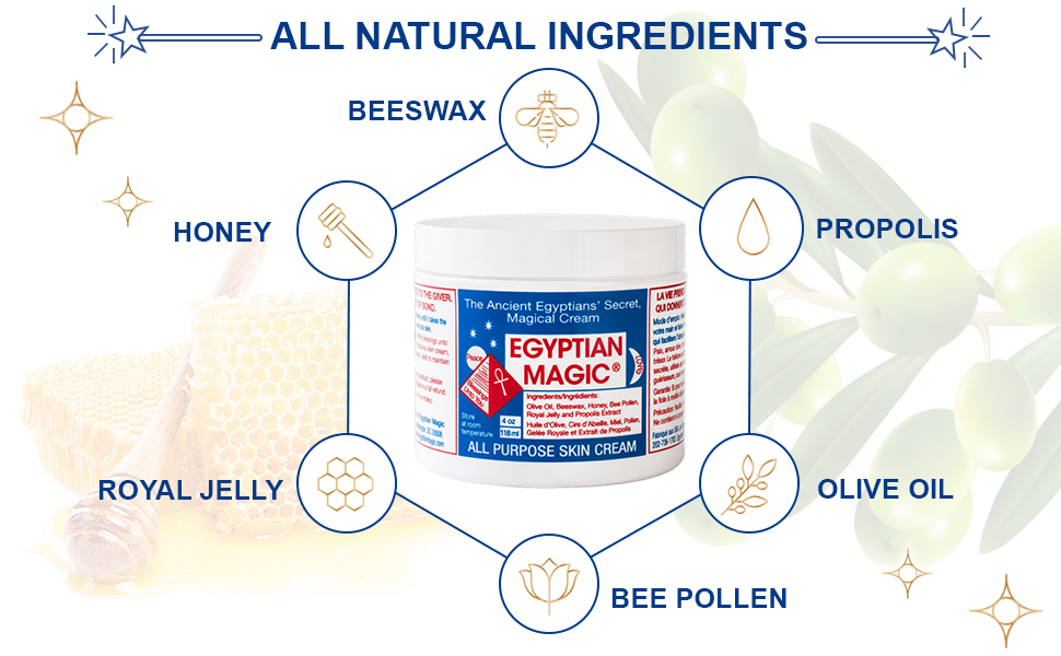 Our skin cream is infused with all natural ingredients.