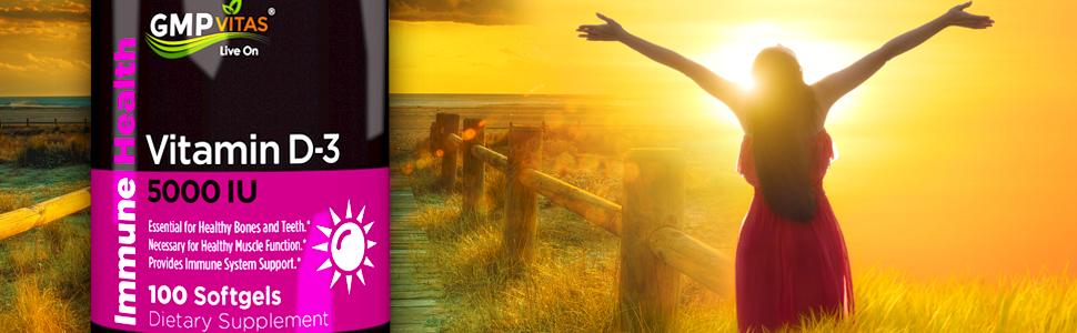 GMP Vitas men women health supplement vitamin d sunshine calcium phosphorus absorption stronger bone