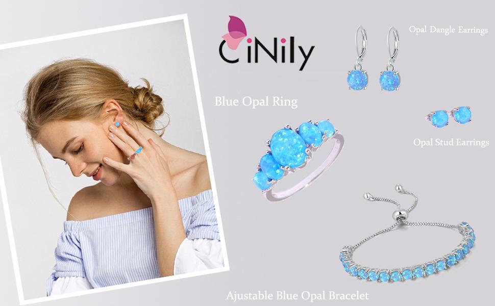 Blue Opal Jewelry Sets For Women