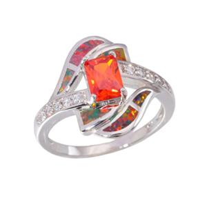 Orange Opal Ring