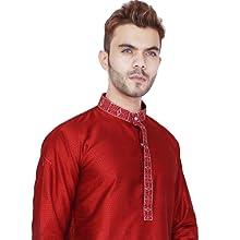 26b282dc3dd3 Amazon.com  Kurta Pajama for Men Traditional Long Sleeve Indian ...