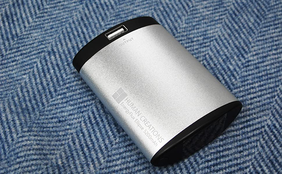 Human Creations EnergyFlux 4400mAh Rechargeable Double-Sided Hand Warmer//USB...