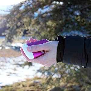 Human Creations Ellipse Hand Warmer Rechargeable Hand Warmers Power Bank USB Best Christmas Gift