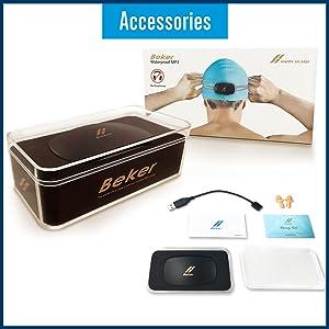 8b9627b33df1 Amazon.com  BEKER Waterproof MP3 Player for Swimming