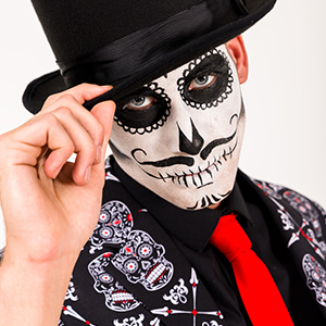 skulleton bones tie and party funny crazy suit