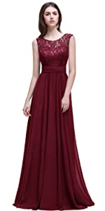 Womens Sleeveless Lace Chiffon Long Evening Gowns Bridesmaid Dress · Women Chiffon Long Mother of The Bride Dresses Plus Size Prom Dresses ...