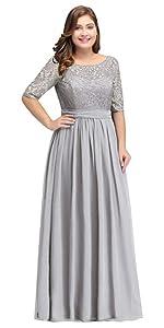02f6dfc7bec196 Women s Sleeveless Lace Chiffon Long Evening Gowns Bridesmaid Dress · Women  Chiffon Long Mother of The Bride Dresses Plus Size Prom Dresses ...