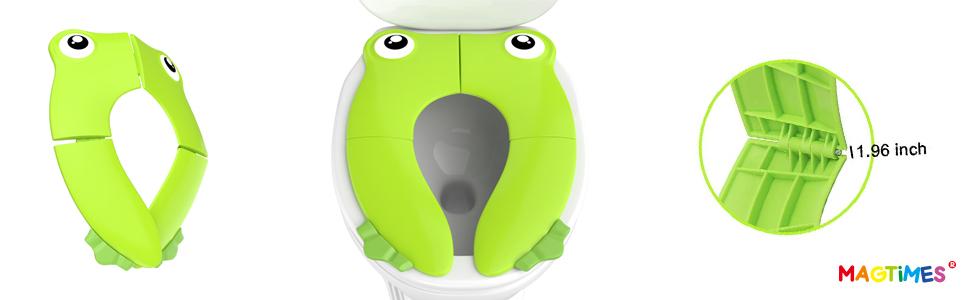Portable Folding Large Non Slip Silionce Pads Potty Training Seat