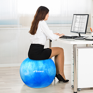 amazon com trideer yoga ball exercise ball anti burst extra