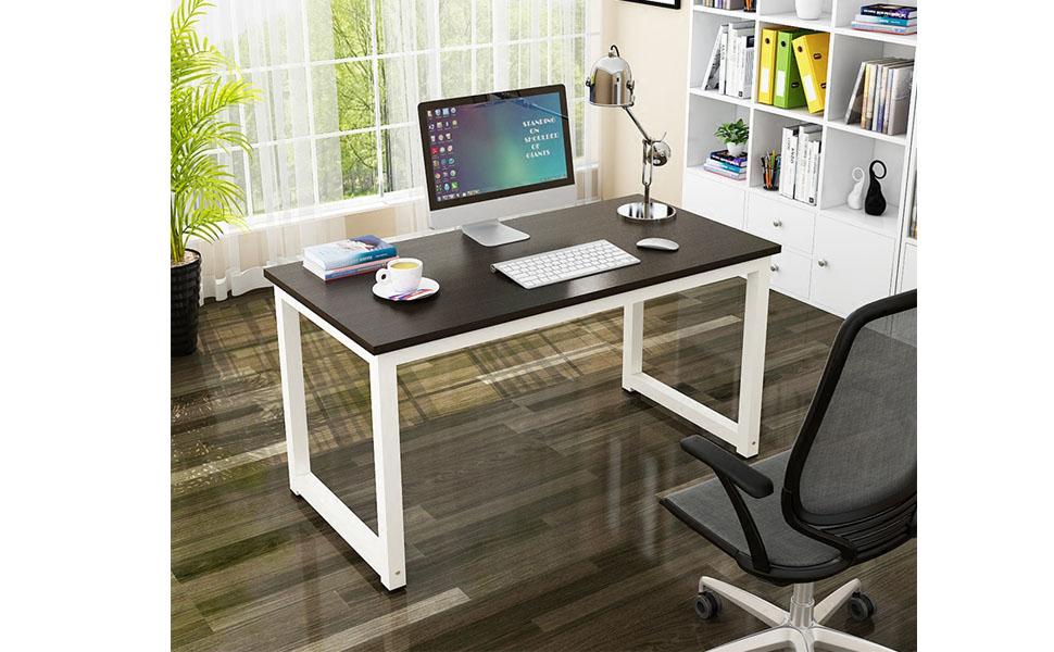 simple home office desk. Gootrades Computer Table,47\u0027\u0027 Sturdy Office Desk Study Writing Desk,Modern Simple Style PC Workstation Table For Home M
