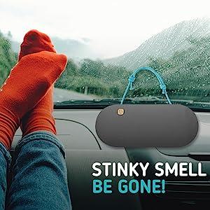 PURGGO Car Air Freshener Auto Odor Eliminator Activated Bamboo Charcoal Air Purifier