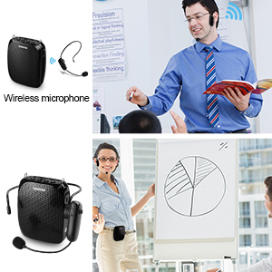 personal voice amplifier wireless  ZOWEETEK Voice Amplifier with UHF Wireless Microphone Headset, 10W 1800mAh Portable Rechargeable PA system Speaker for Multiple Locations such as Classroom, Meetings, Promotions and Outdoors 61faf90d 1595 4df7 9076 8cc2064c21d0