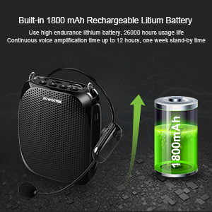 voice amplifier 18w  ZOWEETEK Voice Amplifier with UHF Wireless Microphone Headset, 10W 1800mAh Portable Rechargeable PA system Speaker for Multiple Locations such as Classroom, Meetings, Promotions and Outdoors 6bd6691b e571 43d6 b48f 76fd90cc6b0f