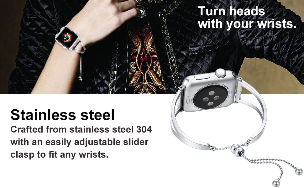 apple watch band silver