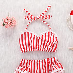 84ef5283e481b Amazon.com  Swimsuits for Girls Cute Pineapple One Piece Halter Off ...