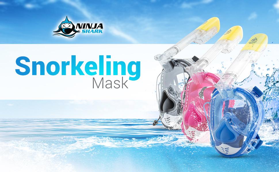 Amazon.com: Ninja Shark - Máscara de esnórquel para rostro ...
