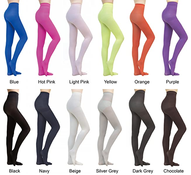 cb93fd76a5728 Prefer Green Women's Plus Size Semi Opaque 80 Denier Velvet Footed Pantyhose  Candy Color Tights - 12 COLORS