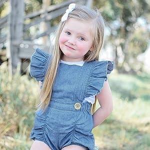 fashion baby demin bodysuit