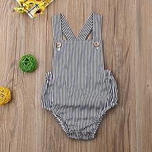 infant baby striped jumpsuit romper