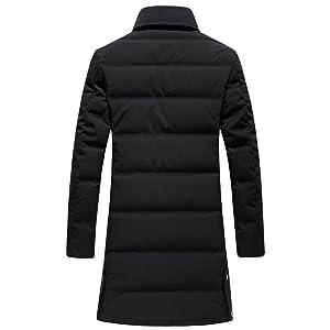 SUNNY SHOP Packable Down Jacket Men Long Winter Sale Thick White ...