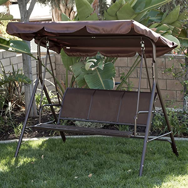 Belleze Feature Brand NEW 3 Person Patio Swing, Which Are Of Contemporary  Looks And Flavor, Offers Comfortable And Exceptionally Stunning Outdoor  Lounging.