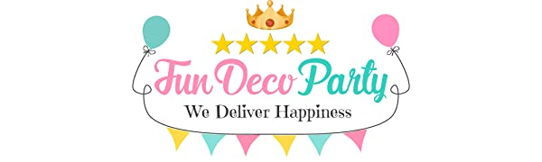 FunDeco Party - 1st Birthday Baby Boy Decorations Royal Blue Prince Theme