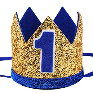 Royal Blue and Gold Hat for Your Little Prince