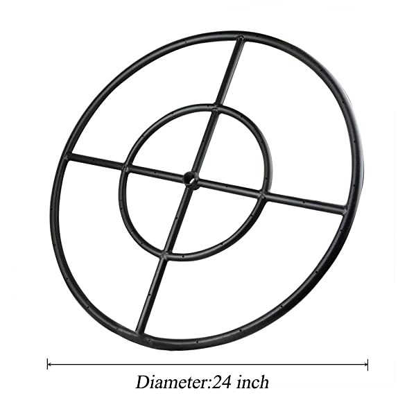 Amazon Com Stanbroil 24 Round Fire Pit Burner Ring Double Ring