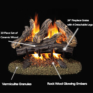 amazon com stanbroil rock wool glowing embers for vent free or rh amazon com glowing embers for vented gas fireplace Gas Fireplace Grate