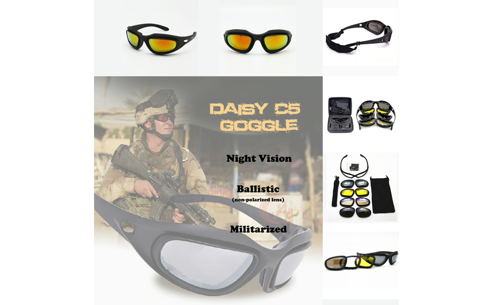 c28b8ff8f9e5 Amazon.com   EnzoDate Daisy One C5 Motorcycle Goggles Polarized 4 ...