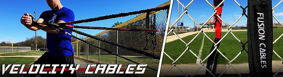 Amazon.com: Kbands Fusion Cables Velocity Trainer (béisbol ...