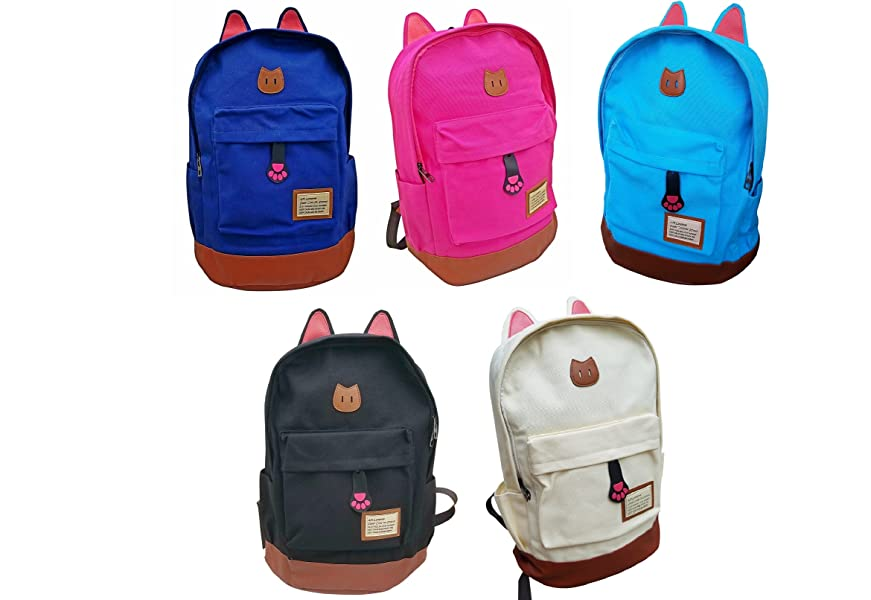 7e6e163d60b Amazon.com   AM Landen CAT Ears Backpack Kid Backpack Travel Daypack ...
