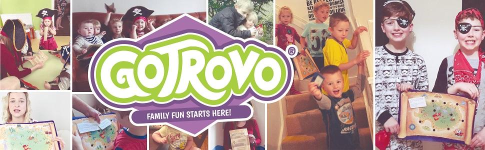 gotrovo treasure-hunt games Gotrovo treasure map family game box minifigure pirate toys kids games