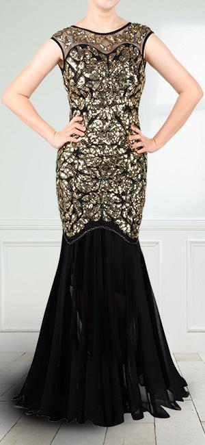 Black Trumpet Prom Dress