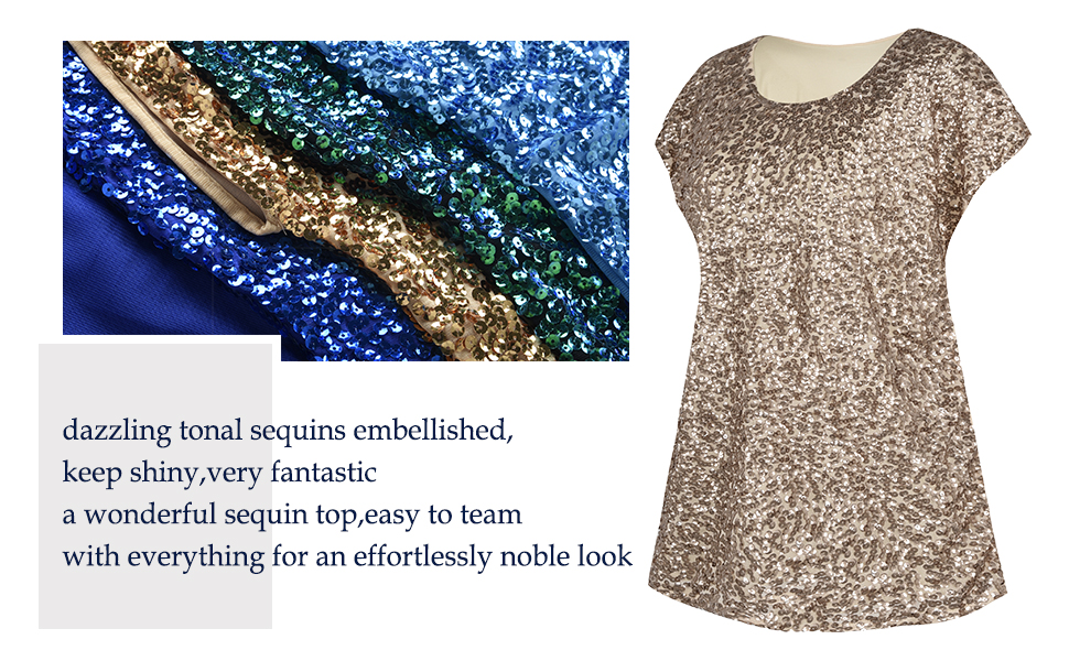 95cf5a8dfd9dc4 Sequin,is a perfect element to help you stand out from crowd.Simple yet  stylish,this relaxed-cut sequin top will inject a little chic into your  everyday ...
