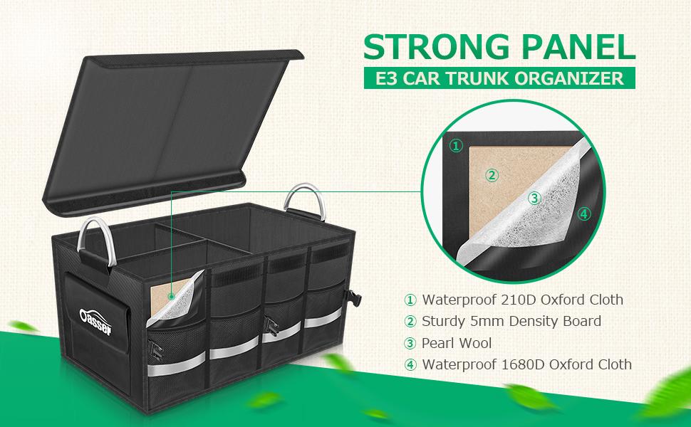 Zone Tech Trunk X-Large Car Organizer Storage Collapsible Cargo Folding Box Bin