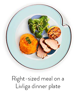 The simply elegant intelligent designs integral to each piece of our dishware were specifically created to subtly guide you in eating a balanced meal with ...  sc 1 st  Amazon.com & Amazon.com | Livliga Hälsa 4-Piece Portion Control Dinnerware Set ...