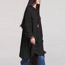 2b3eb9a6e14 Romacci Women Button Down Long Blouse Casual Cotton Linen Plus Size ...